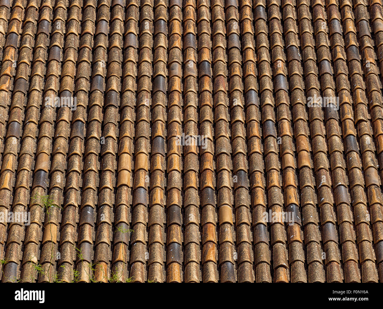 Spanish Terracotta Roof Tiles Typical Spanish Roof Covered In S Style  Terracotta Clay Roof Tiles