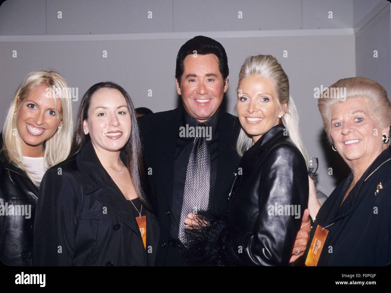 wayne newton with family at mike tyson vs  orlin norris