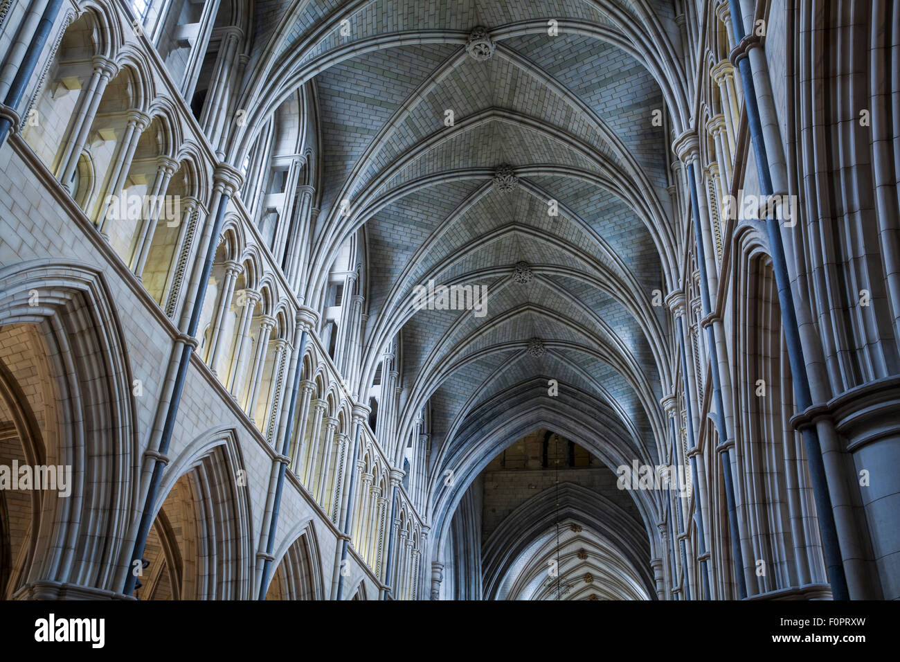 Stock Photo - Vaulted ceiling and roof bosses at Southwark Cathedral in South London near London Bridge and Borough Market : vaulted roofs - memphite.com