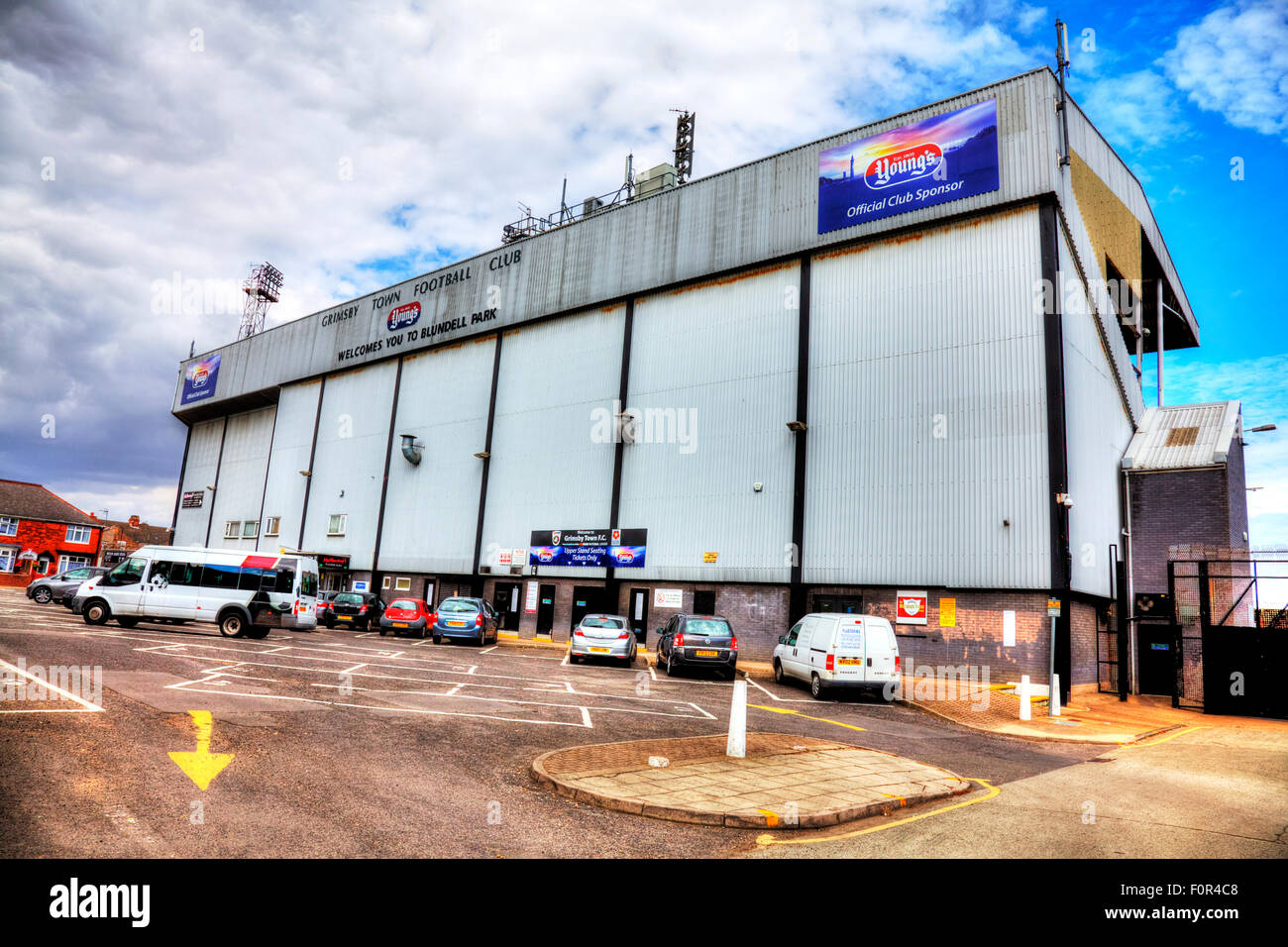 Blundell Park Home Of Grimsby Town FC Football Stadium Front Entrance Outside Facade Exterior