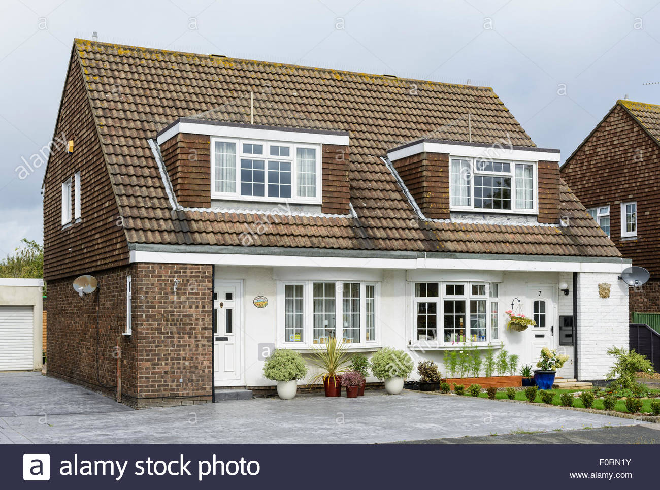 Dormer Windows On A Semi Detached House In England UK