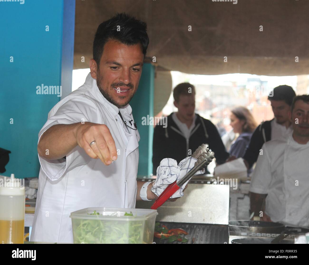 Demonstration Cooking peter andre gives a cooking demonstration in leeds people of leeds