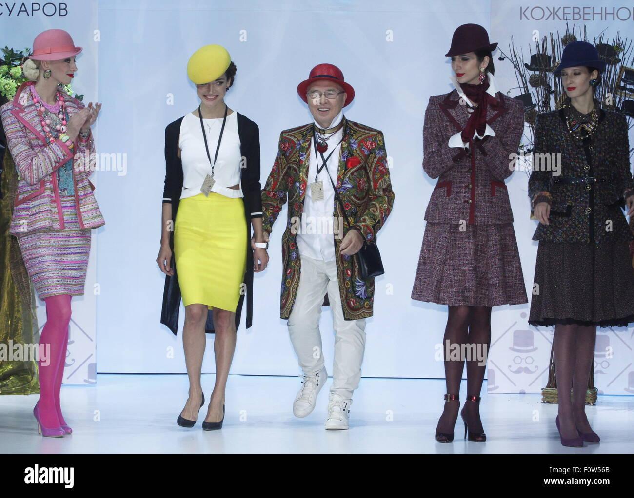 Moscow Russia 21st Aug 2015 Hat Designer Liliya Gureeva Fashion Stock Photo Royalty Free