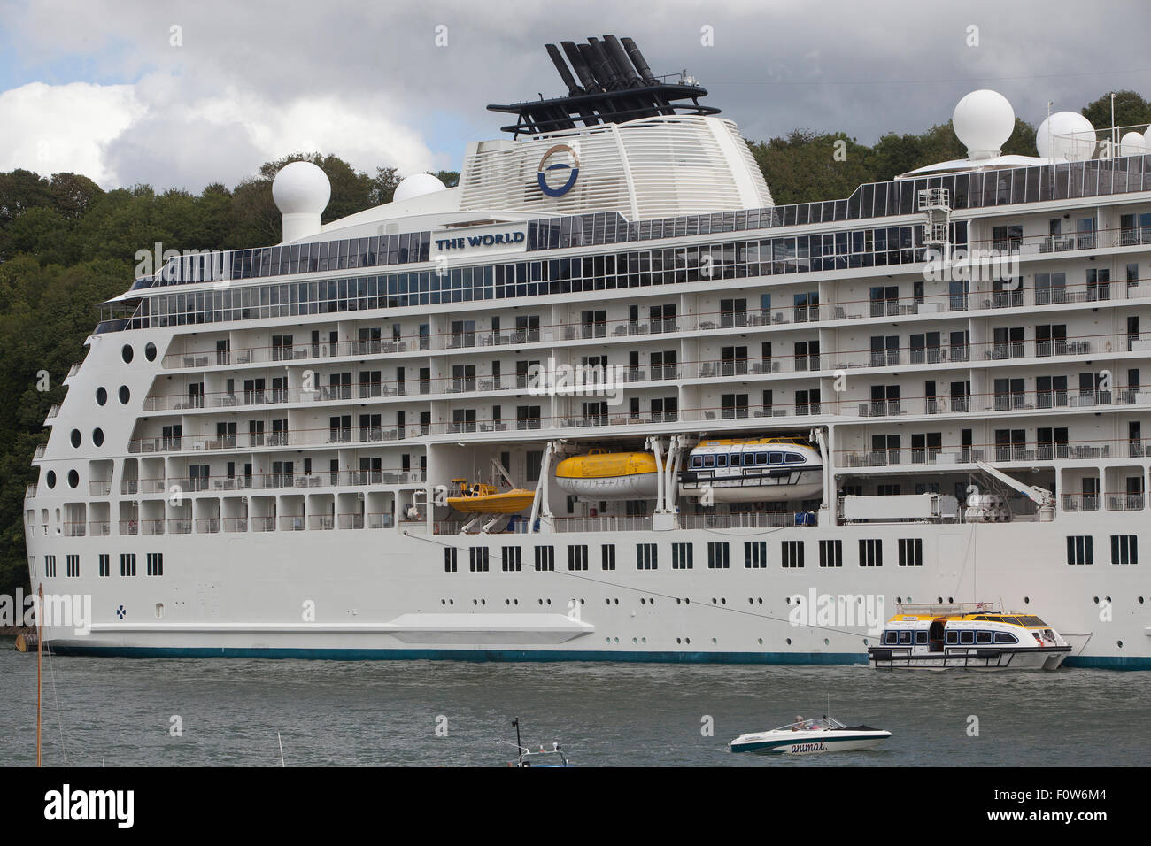 The world private cruise ship for Around the world cruise ship