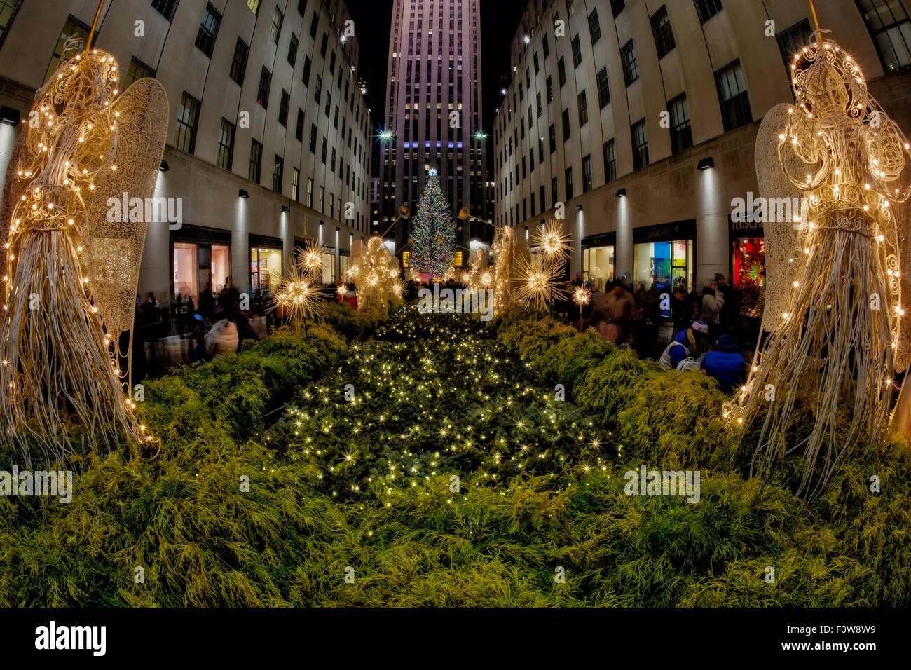 The Rockefeller Center Christmas Tree In New York City