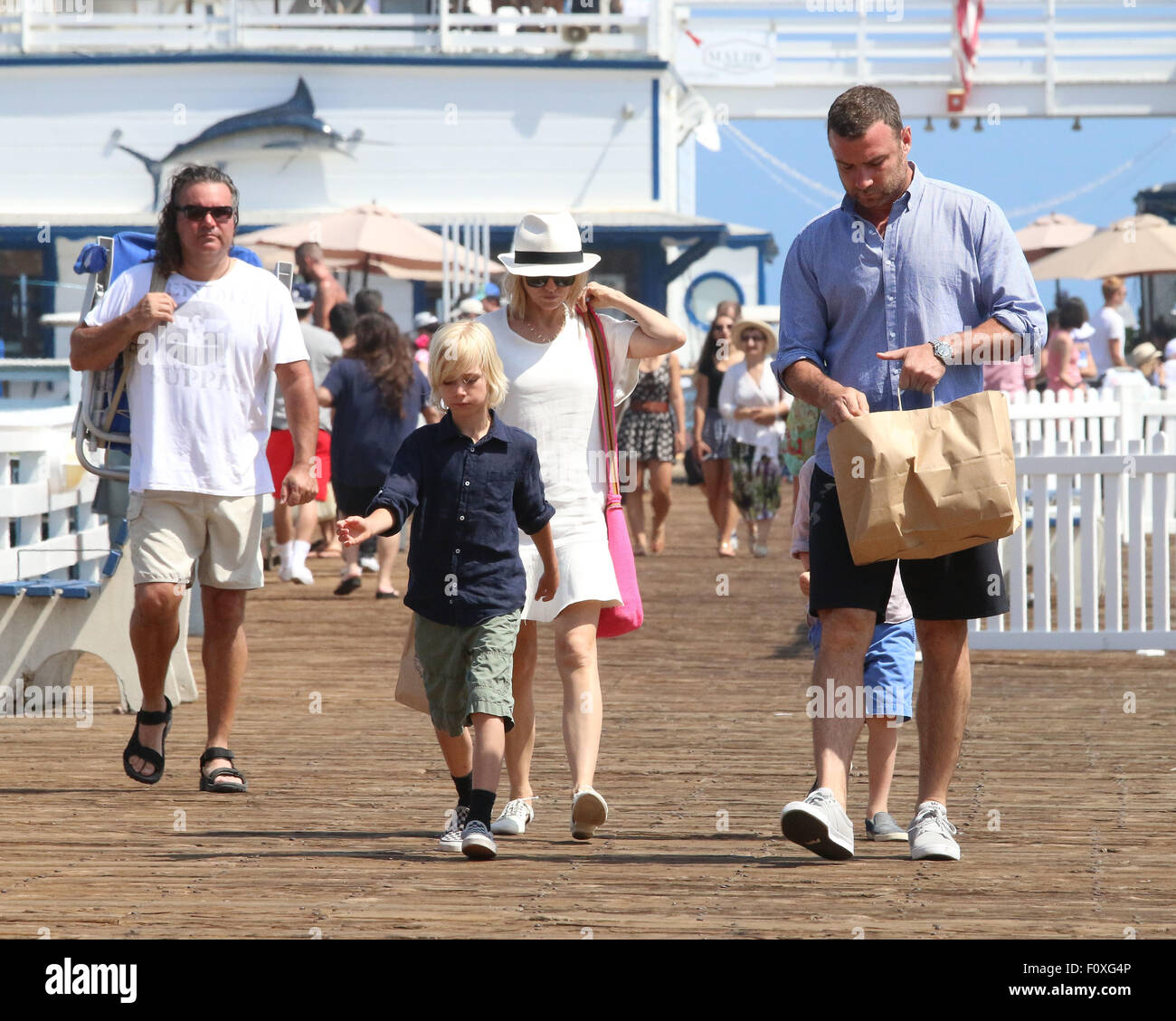 Naomi Watts And Husband Liev Schreiber Go Fishing Off A