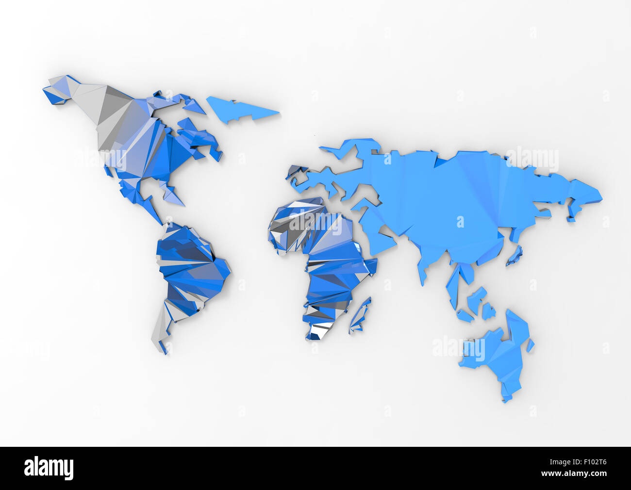 Low polygon 3d world map on white background stock photo royalty low polygon 3d world map on white background gumiabroncs Images