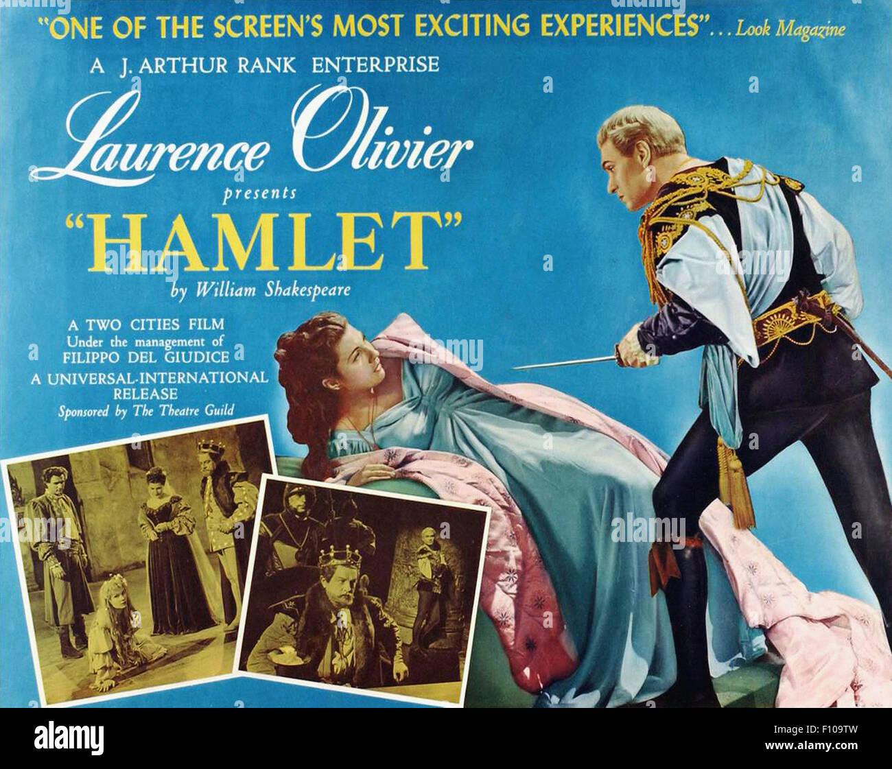 Hamlet (1948) - Movie Poster Stock Photo, Royalty Free ...