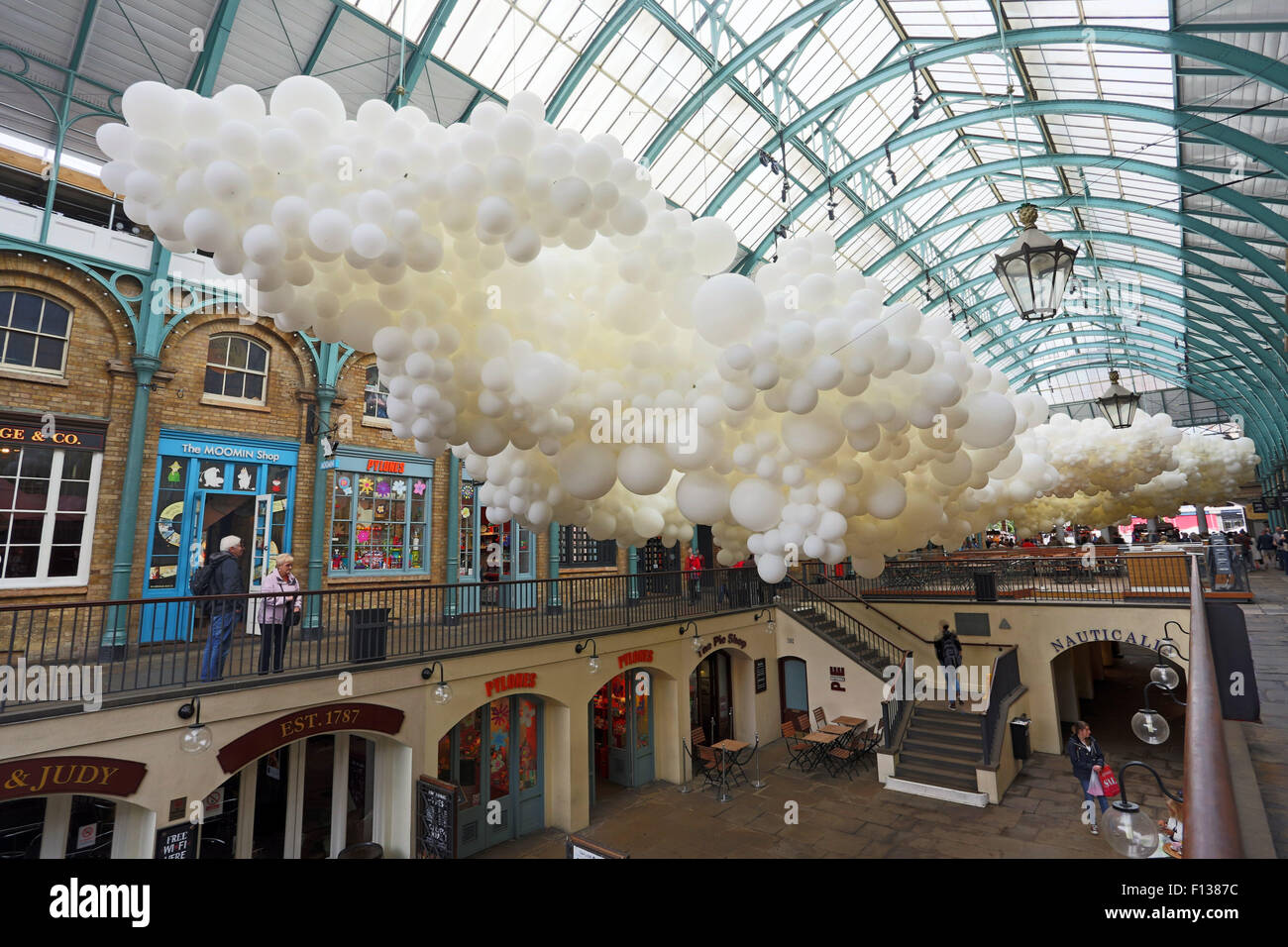 London, UK. 26th August 2015. Balloon Art Installation by Charles ...