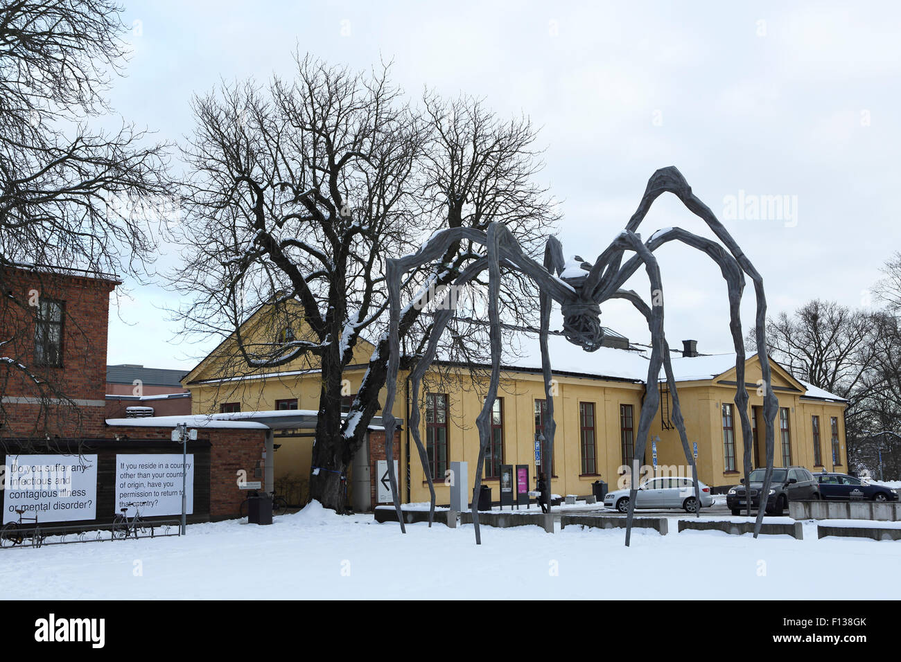 A ginat spider displayed outside the Moderna Museet in ...