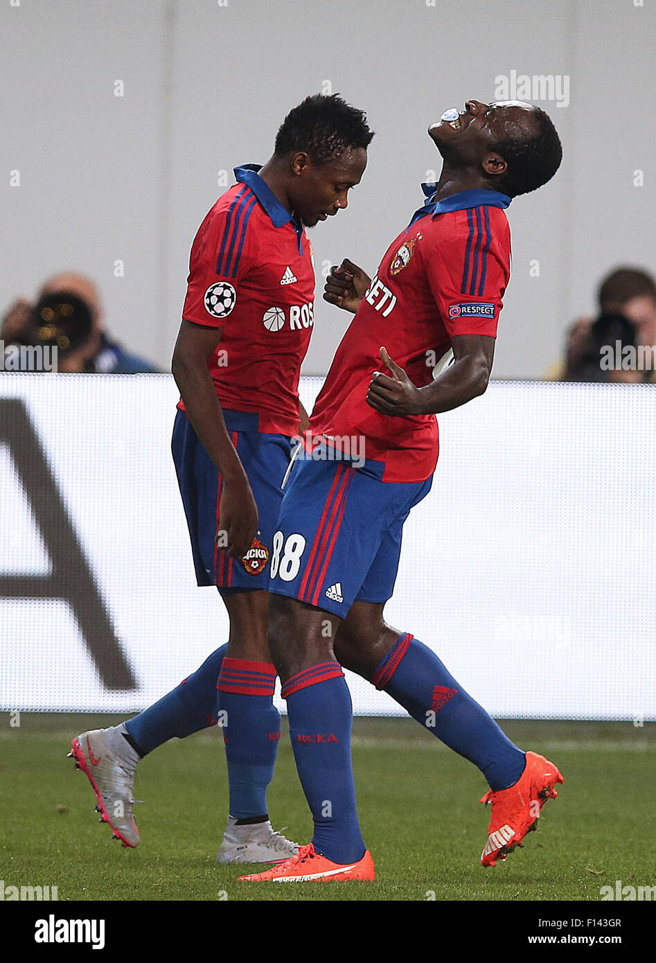 Moscow Region Russia 26th Aug 2015 CSKA Moscow s Seydou