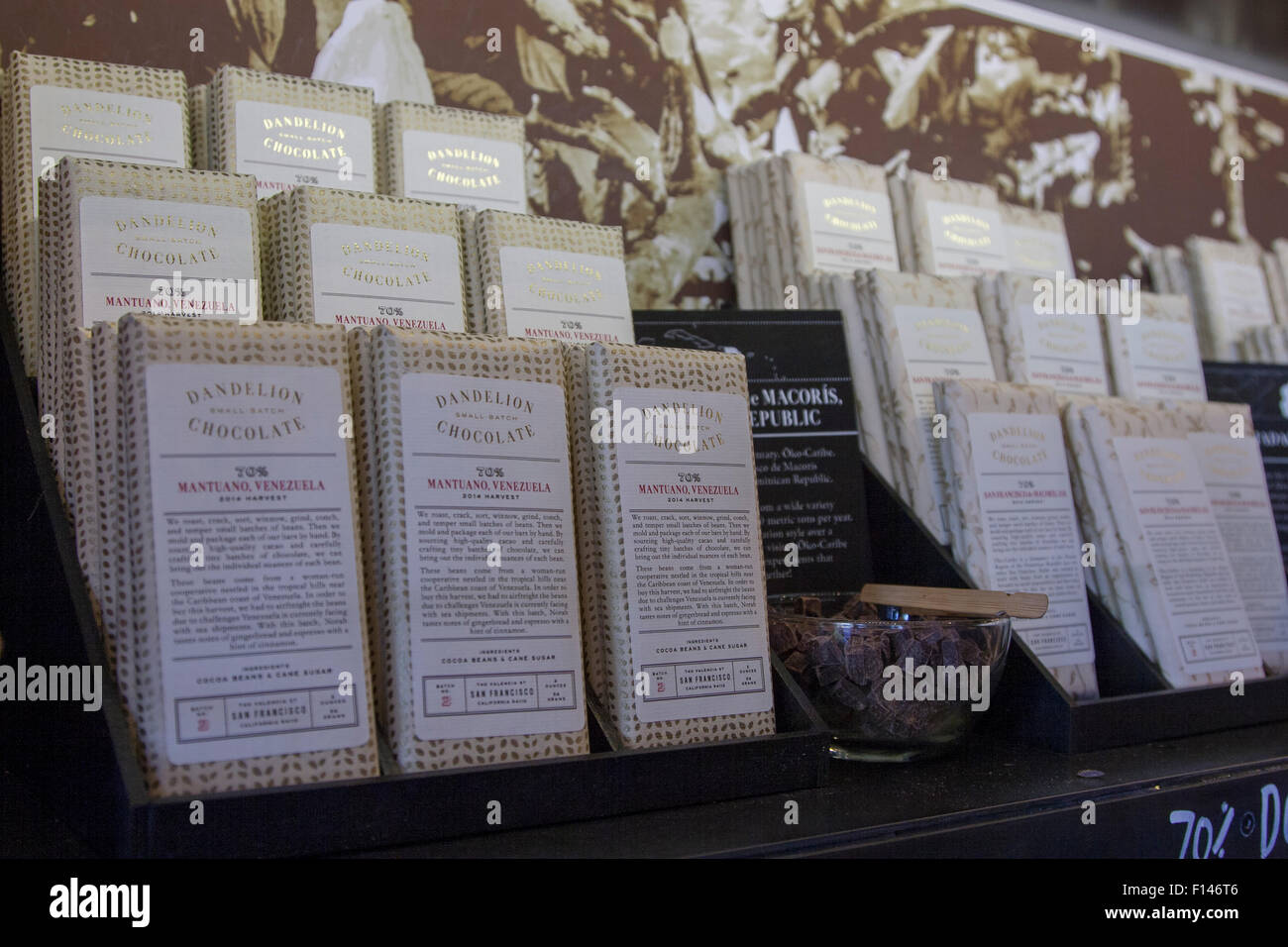 Dandelion Chocolate bars in the store at 740 Valencia St (at 18th ...