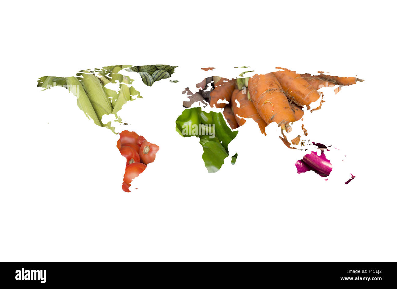 World map collage of lots of popular fruits and vegetables stock world map collage of lots of popular fruits and vegetables gumiabroncs Gallery