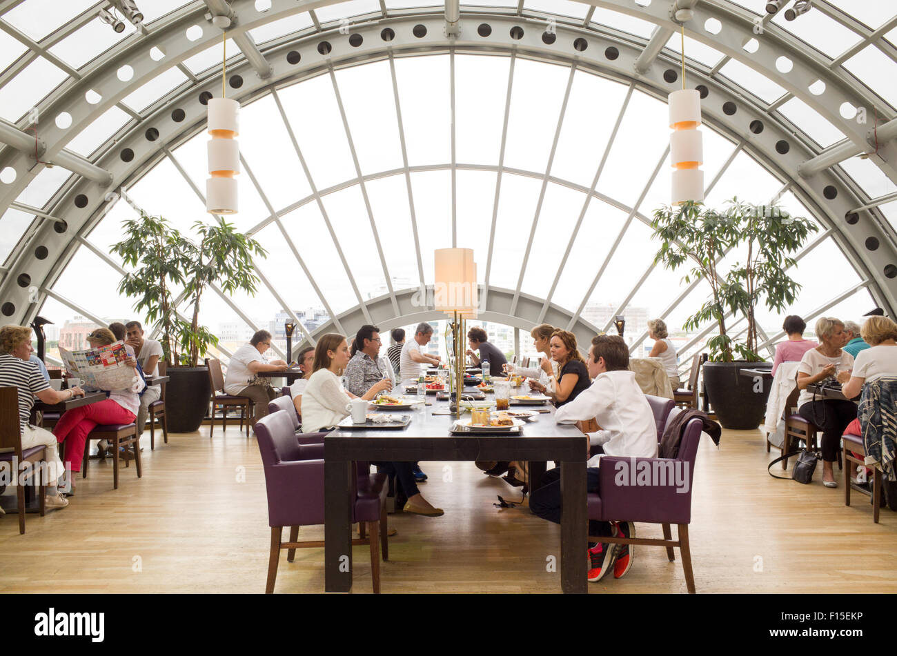 wintergarten restaurant on top floor of kadewe department store stock photo royalty free image. Black Bedroom Furniture Sets. Home Design Ideas