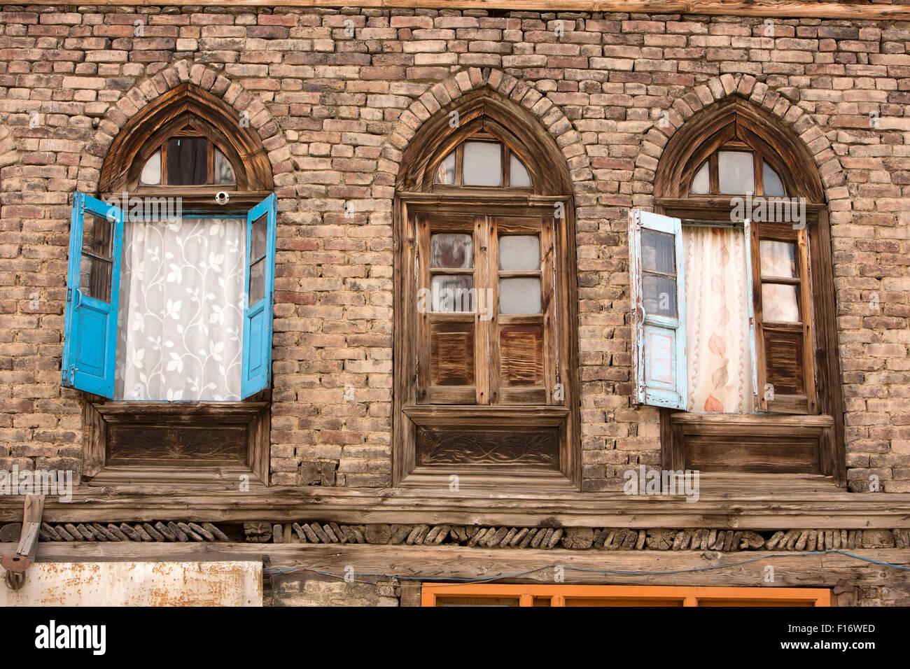 India jammu kashmir srinagar fateh kadal gothic arched windows of colonial