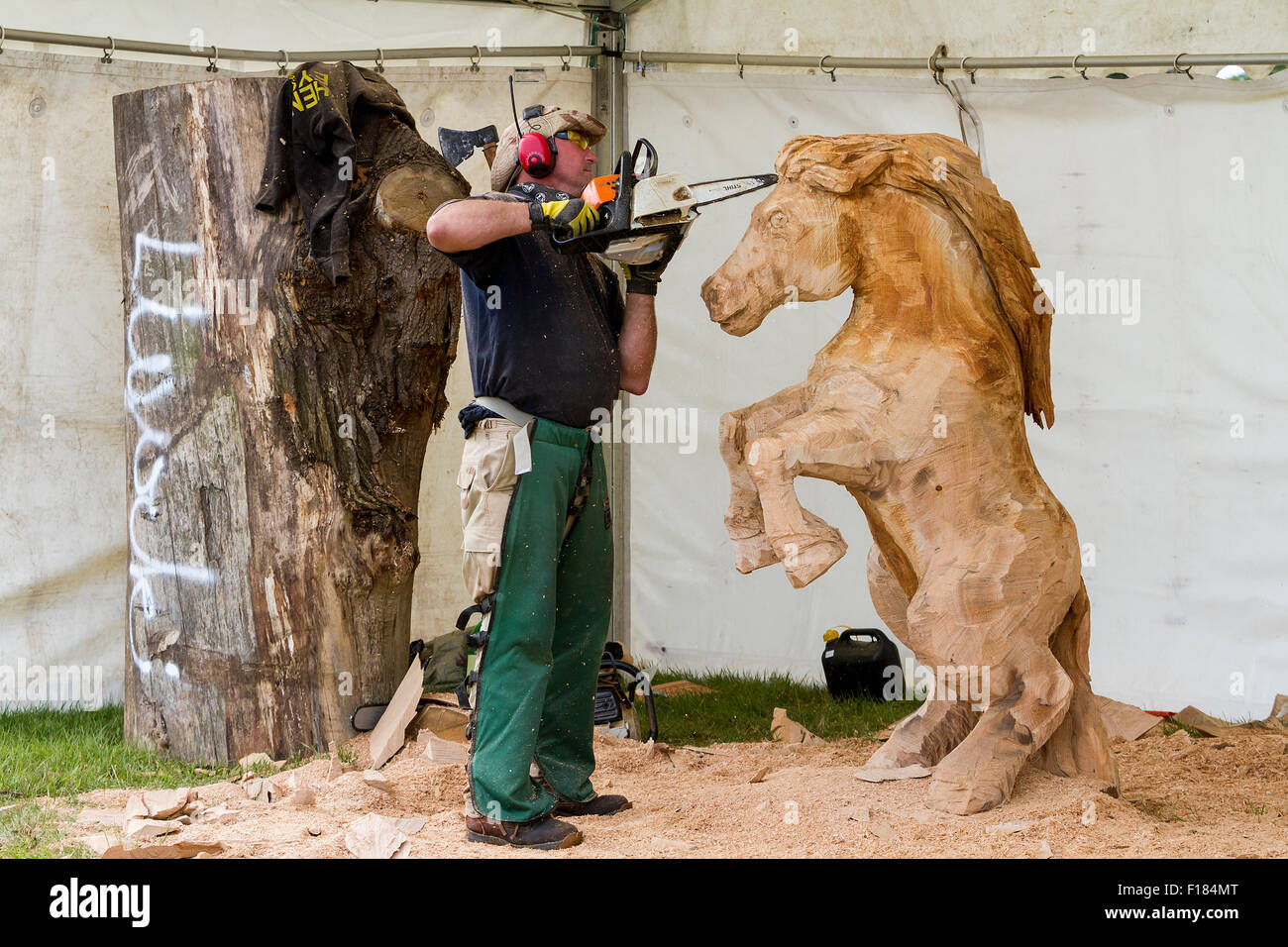 The th english open chainsaw carving competition held at