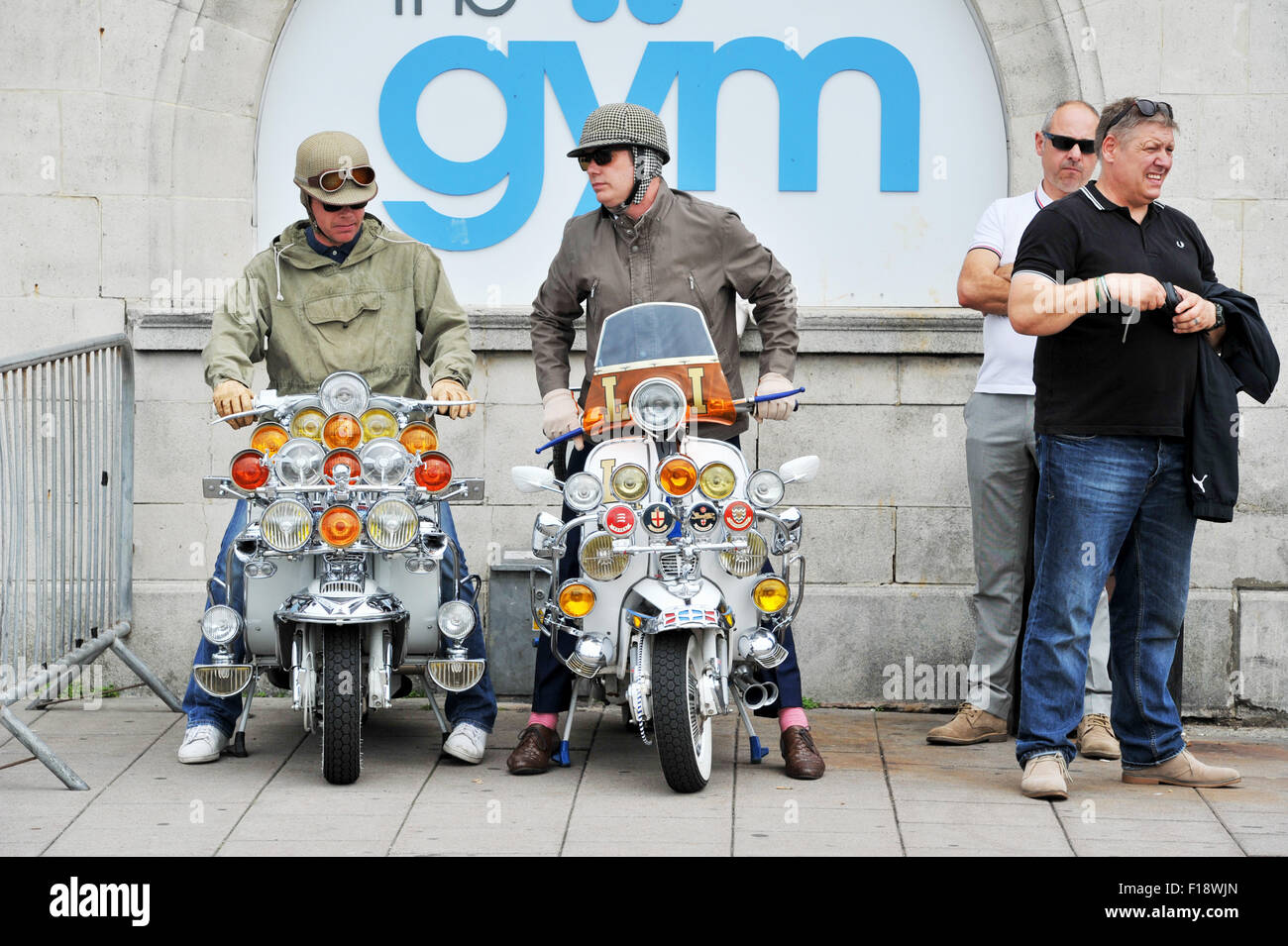 Brighton Uk 30th August 2015 Mods With Their Scooters