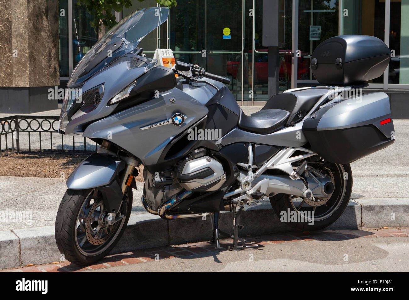 bmw r1200rt sport touring motorcycle parked usa stock. Black Bedroom Furniture Sets. Home Design Ideas