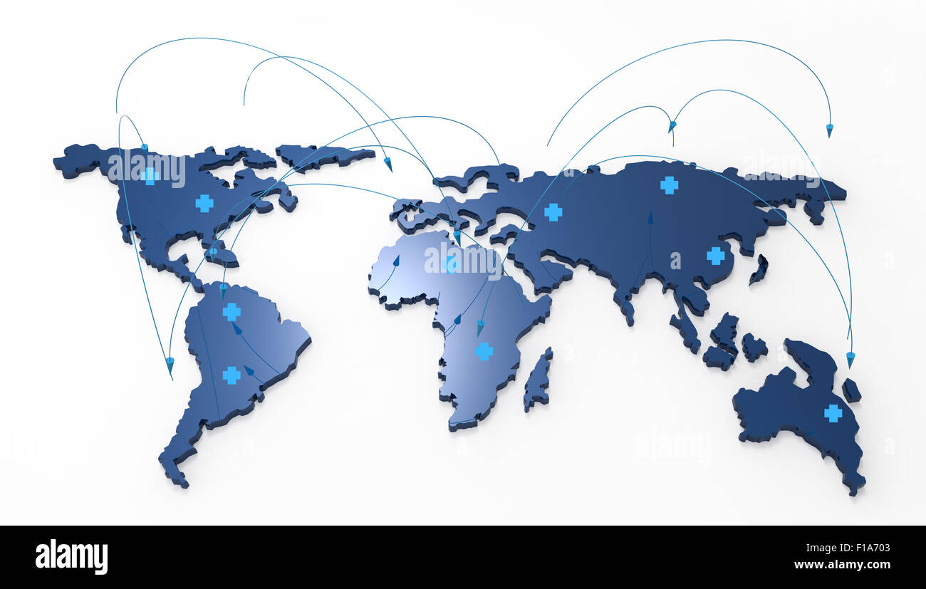 3d world map medical network as concept stock photo 86891507 alamy 3d world map medical network as concept gumiabroncs Images