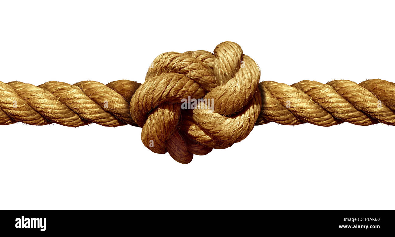 Rope knot isolated on a white background as a strong nautical rope knot isolated on a white background as a strong nautical marine line tied together as a symbol for trust and faith and a metaphor for strength or biocorpaavc Choice Image