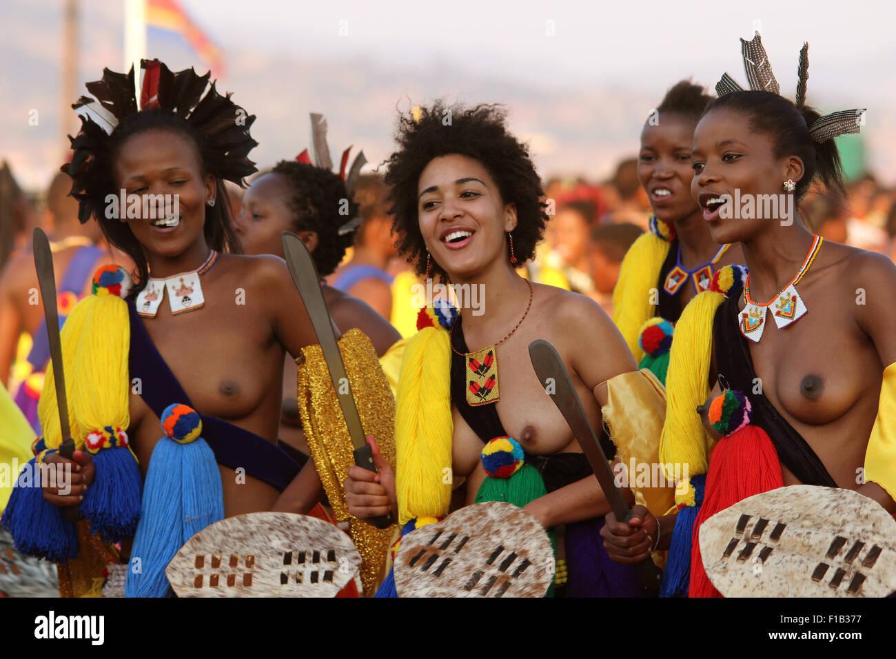 Ludzizini, Swaziland. 30th Aug, 2015. Women and girls ...