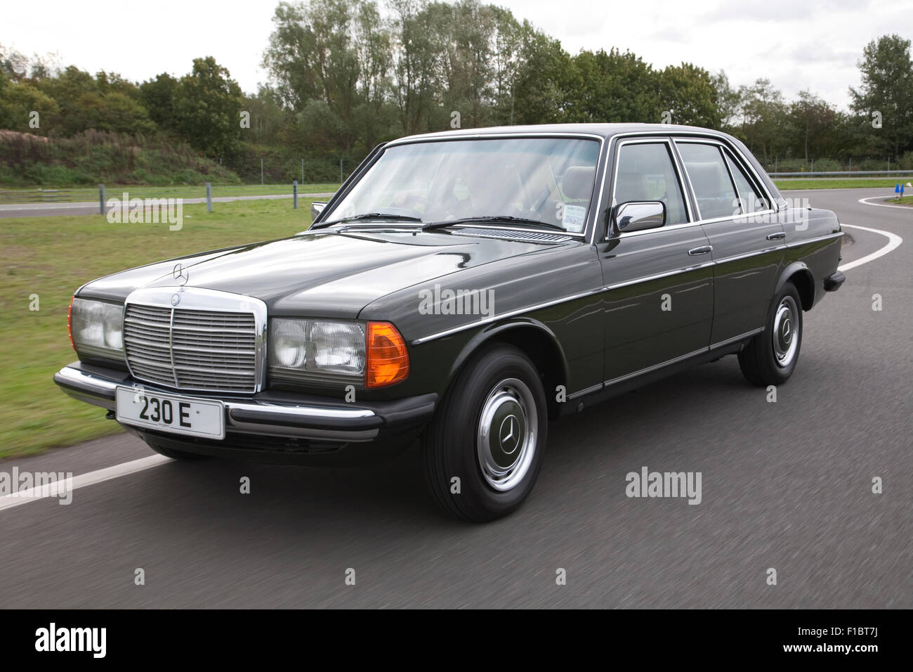 Classic mercedes benz w123 1970 39 s saloon car stock photo for Mercedes benz w123