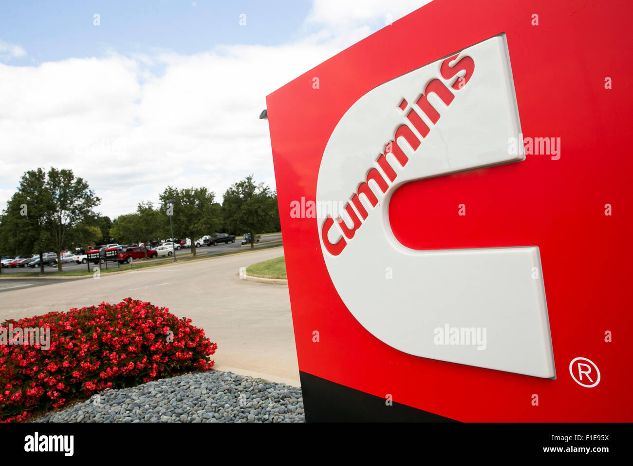 A logo sign outside of the cummins inc columbus engine plant in a logo sign outside of the cummins inc columbus engine plant in columbus indiana on august 25 2015 biocorpaavc Images