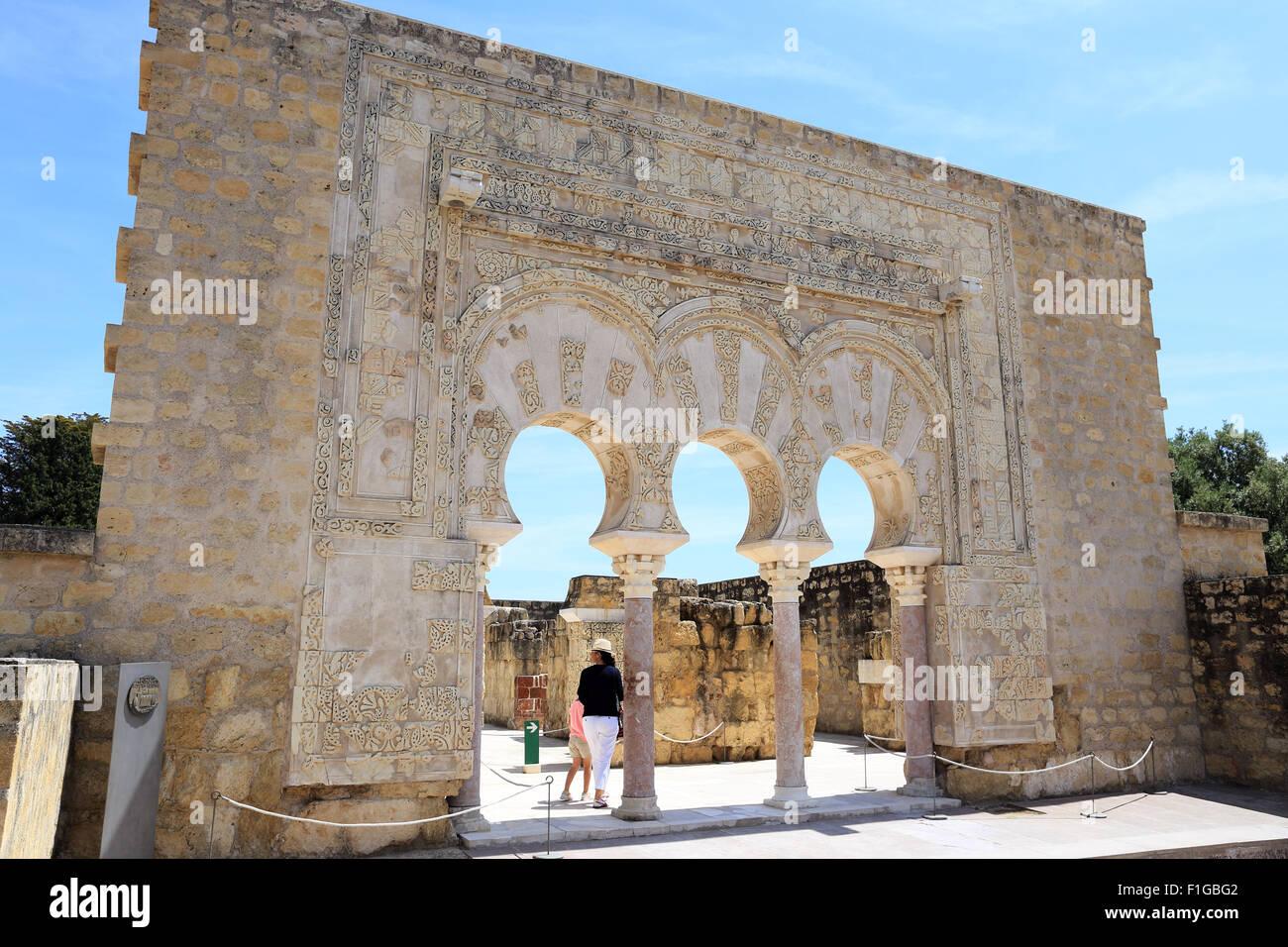 The arched entrance to the House of Yafar, Medina Azahara, (Madinat Stoc...