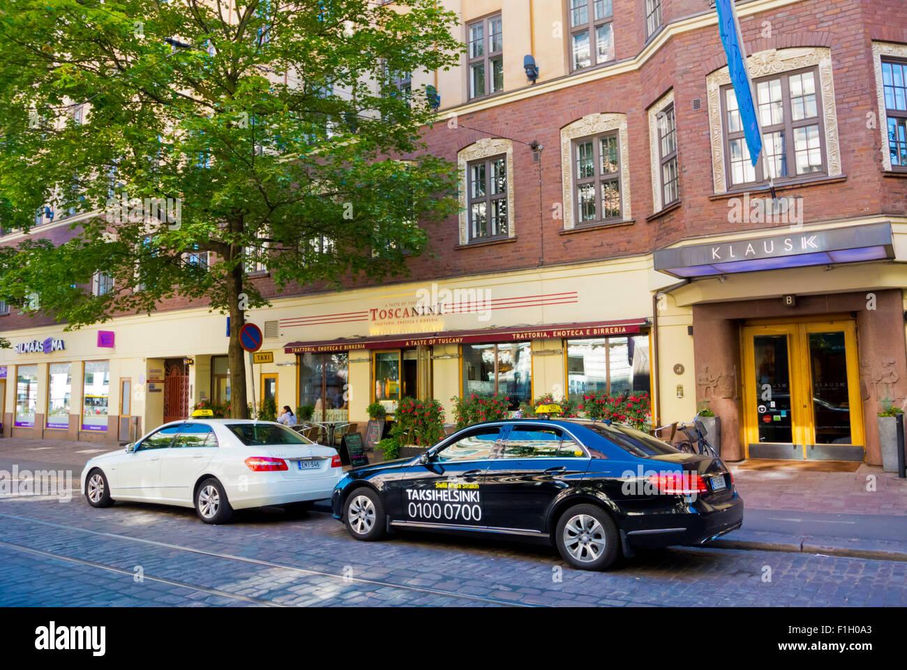 Taxis In Front Of Klaus K Hotel Bulevardi Helsinki