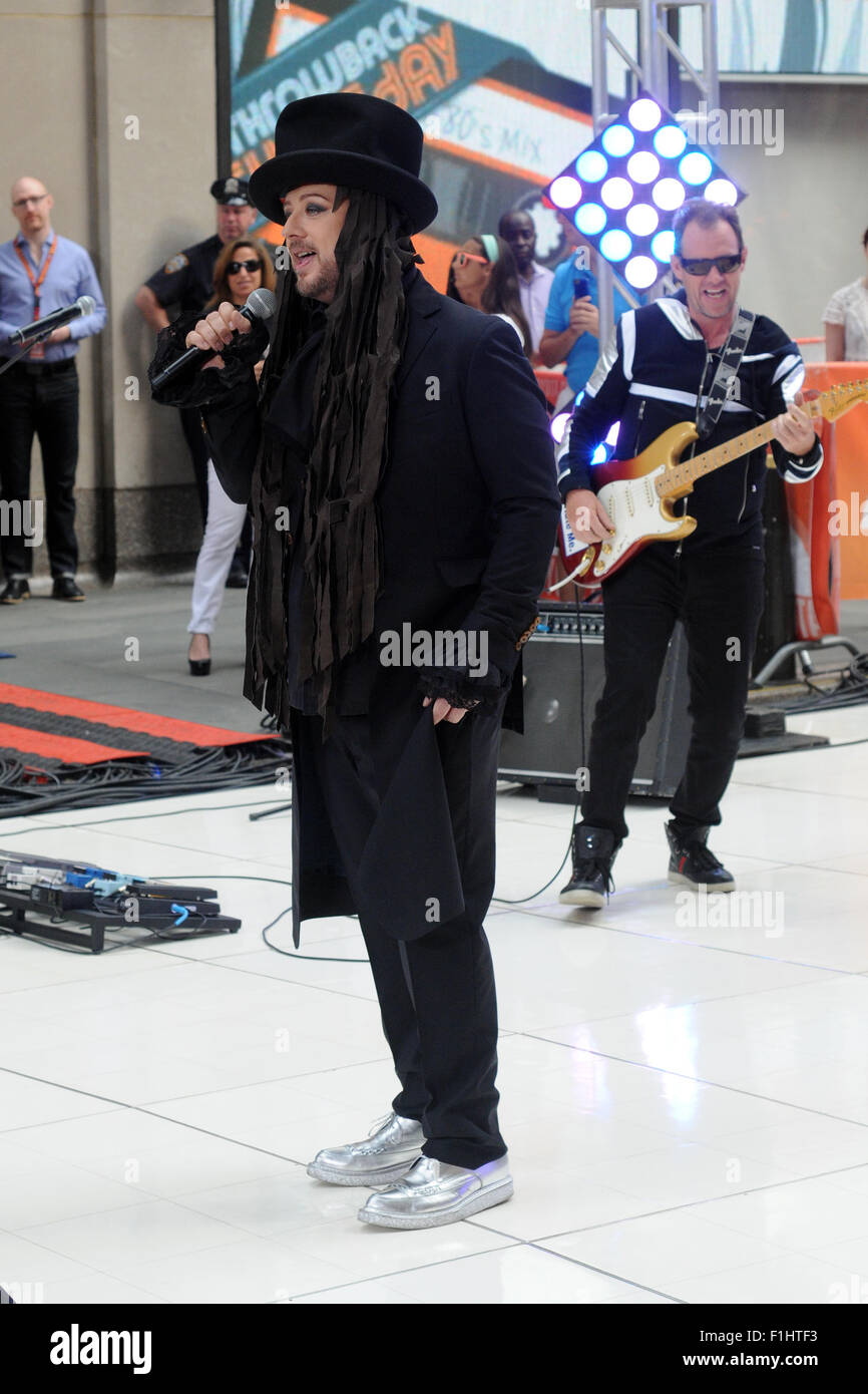 Boy George performs on NBC's 'Today' show Featuring: Boy ...