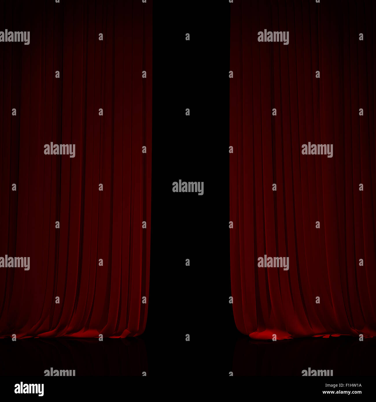 Opening and closing red curtain stock animation royalty free stock - Stock Photo Opening Red Curtain On Theater Or Cinema Stage