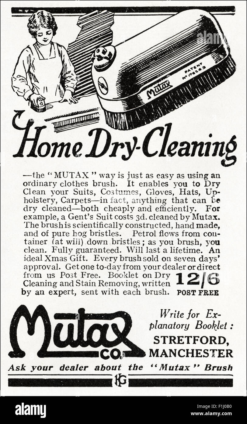1920s advert magazine advertisement dated 1923 advertising massachusetts usa 1920s advert magazine advertisement dated 1923 advertising mutax home dry cleaning brush made in