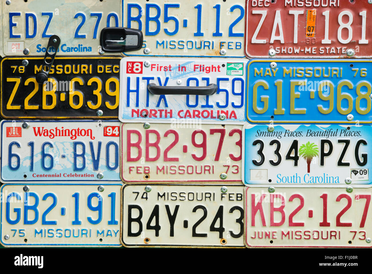 American license plates used as a door panel in a vw beetle car  sc 1 st  Alamy & American license plates used as a door panel in a vw beetle car ... pezcame.com