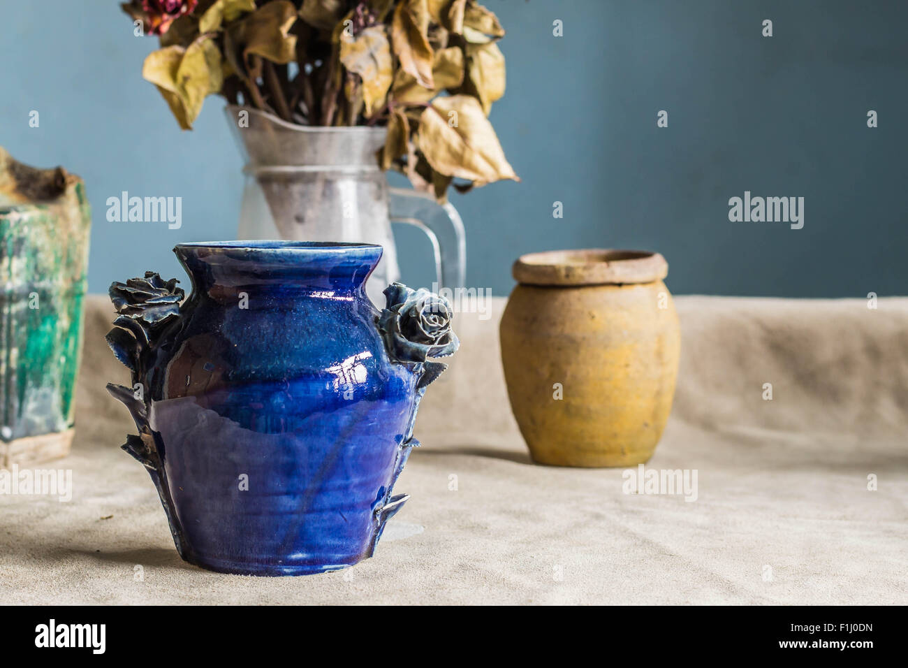 Beautiful blue flower vase on the table stock photo royalty free beautiful blue flower vase on the table reviewsmspy