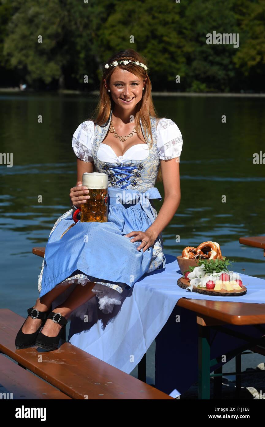 dpa-Exclusive - The Oktoberfest Wiesn playmate 2015