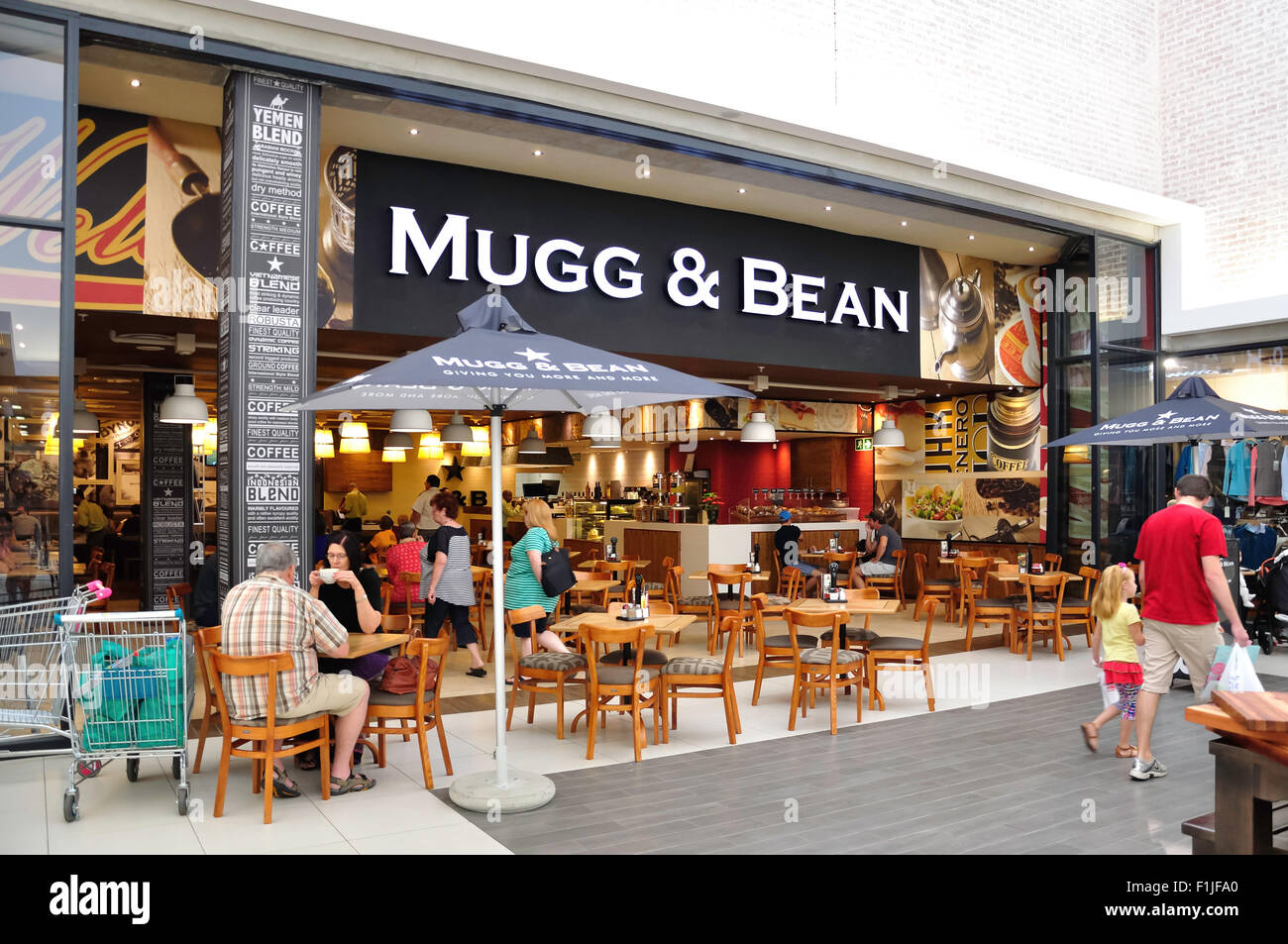 mugg bean coffee shop in heidelberg mall jacobs street stock photo 87073672 alamy. Black Bedroom Furniture Sets. Home Design Ideas