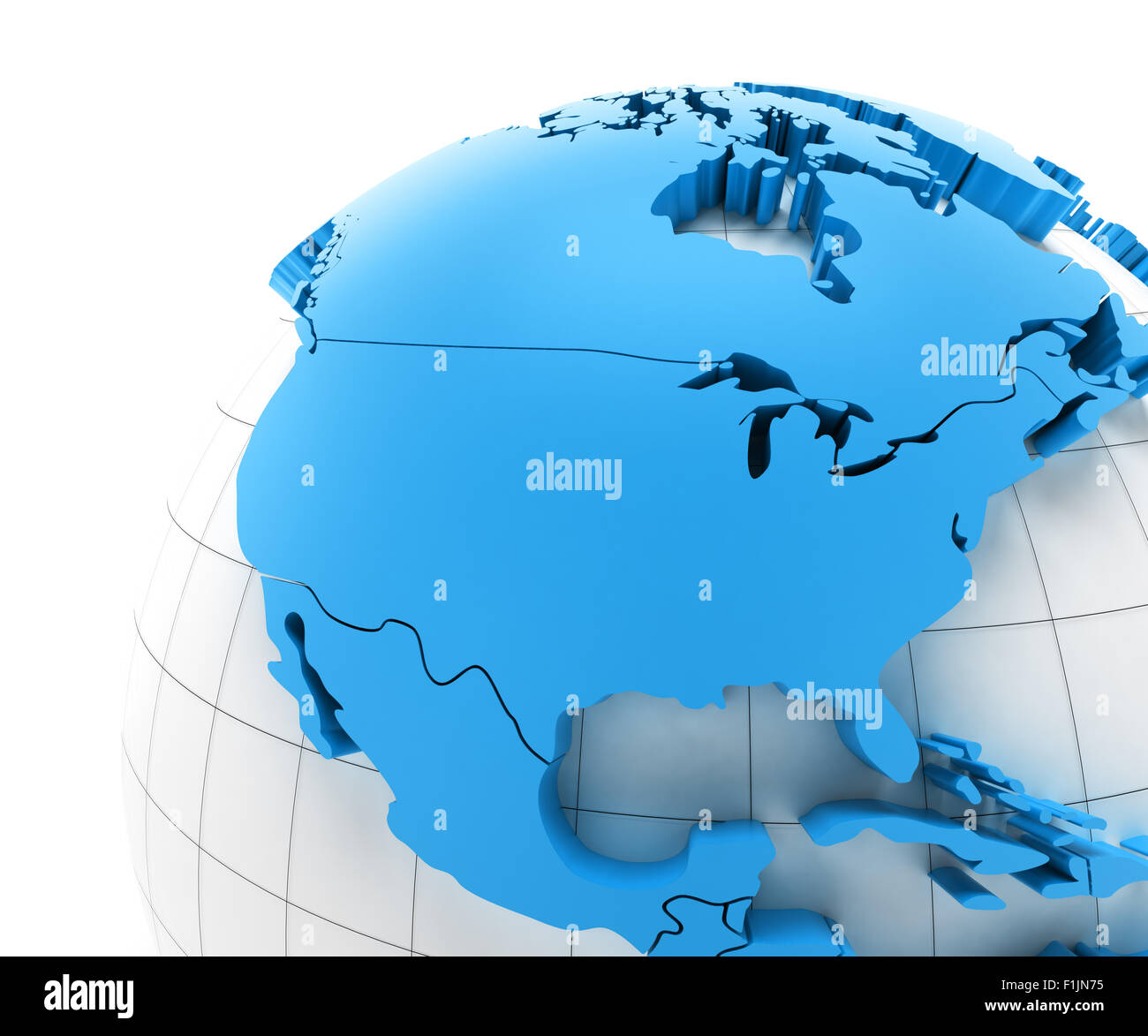 Globe Of USA With National Borders Stock Photo Royalty Free Image - Globe of usa
