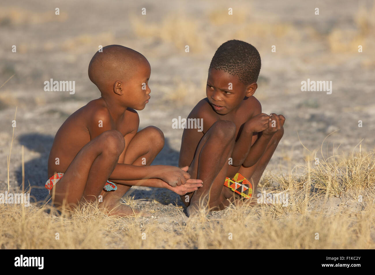 bushman-children-F1KC2Y.jpg