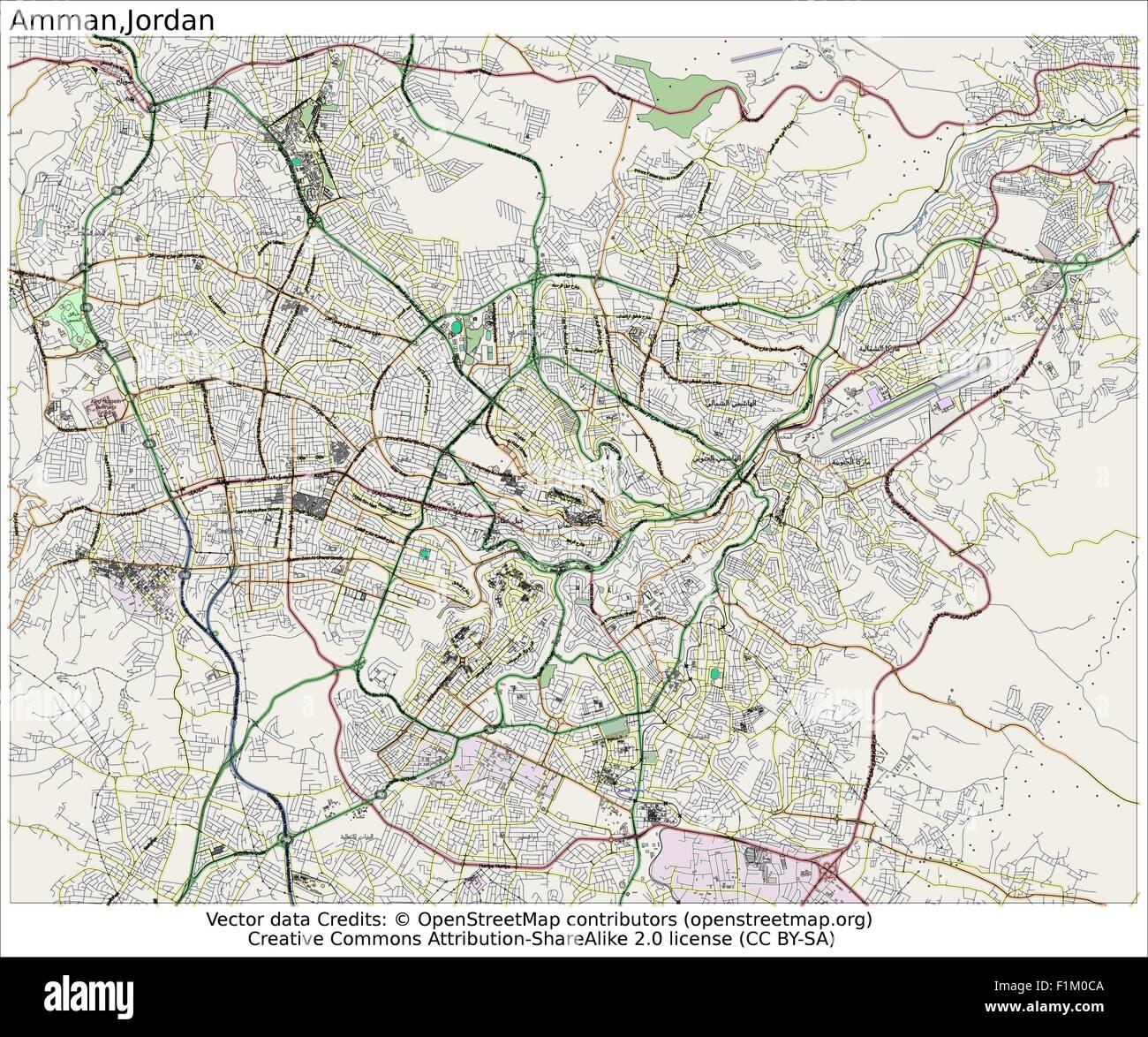 Amman jordan map aerial view stock vector art illustration amman jordan map aerial view gumiabroncs Images