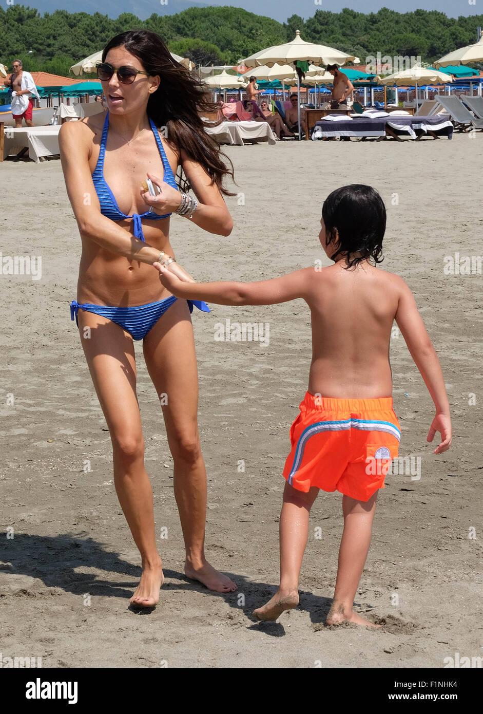 Flavio Briatore and his wife Elisabetta Gregoraci enjoy a ...