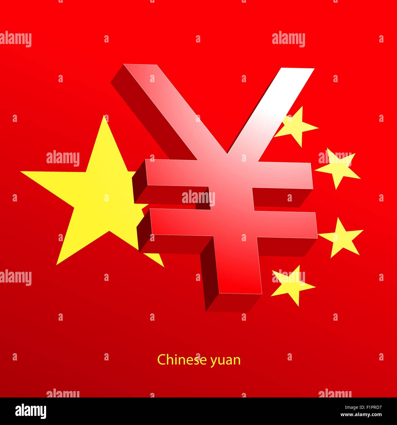 Yuan currency 3d symbol on a red background stock vector art yuan currency 3d symbol on a red background buycottarizona Gallery
