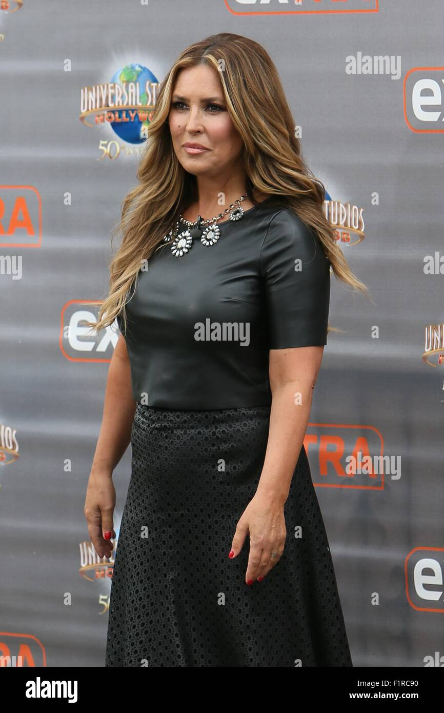 jillian barberie seen at universal studios where she was interviewed by mario lopez for television show featuring jillian barberie where los - Jillian Barberie