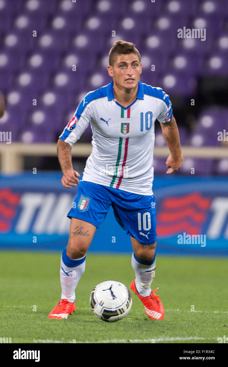 Florence Italy 3rd Sep 2015 Marco Verratti ITA Football