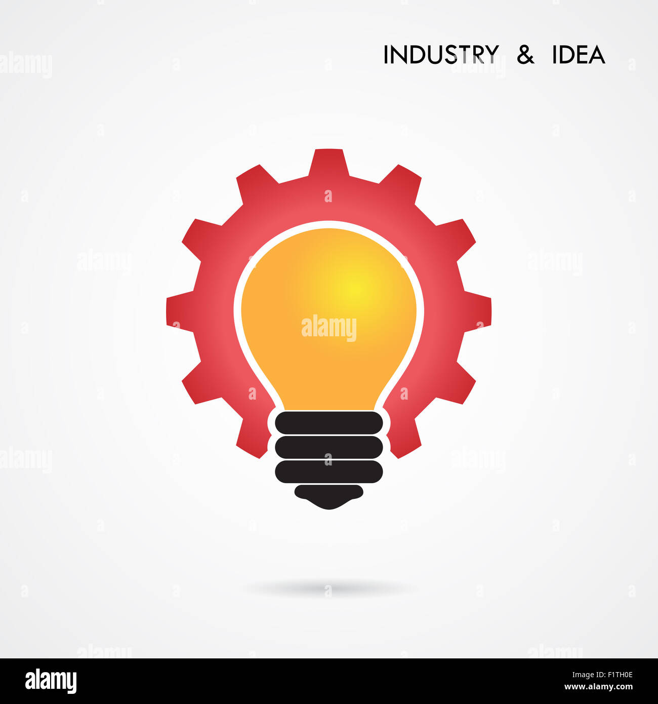 Design banner template - Creative Light Bulb And Gear Abstract Design Banner Template Corporate Business Industrial Creative Logotype Symbol