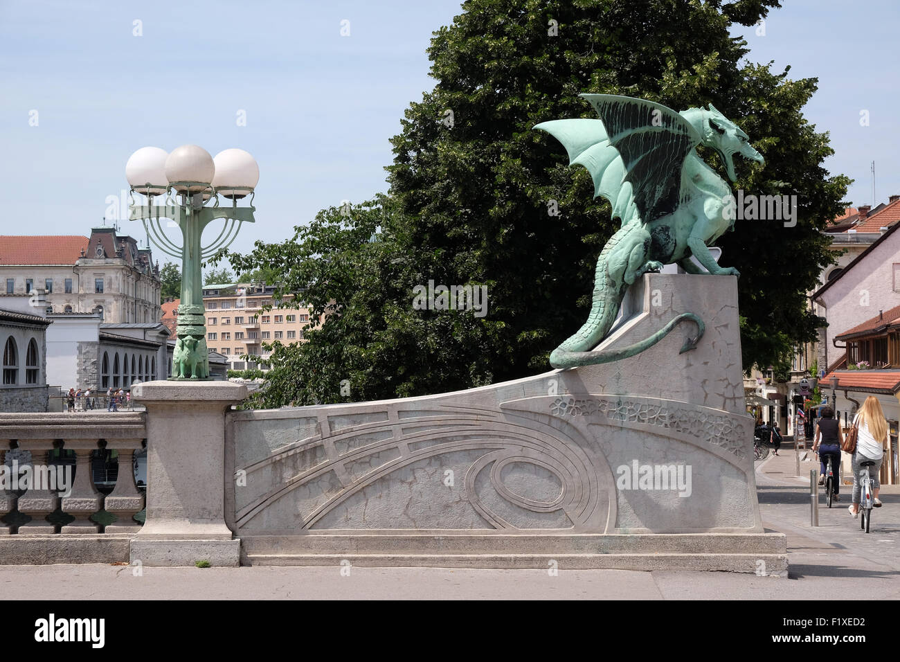 Dragon symbol of the slovenian capital on the dragon bridge in dragon symbol of the slovenian capital on the dragon bridge in ljubljana slovenia biocorpaavc Image collections