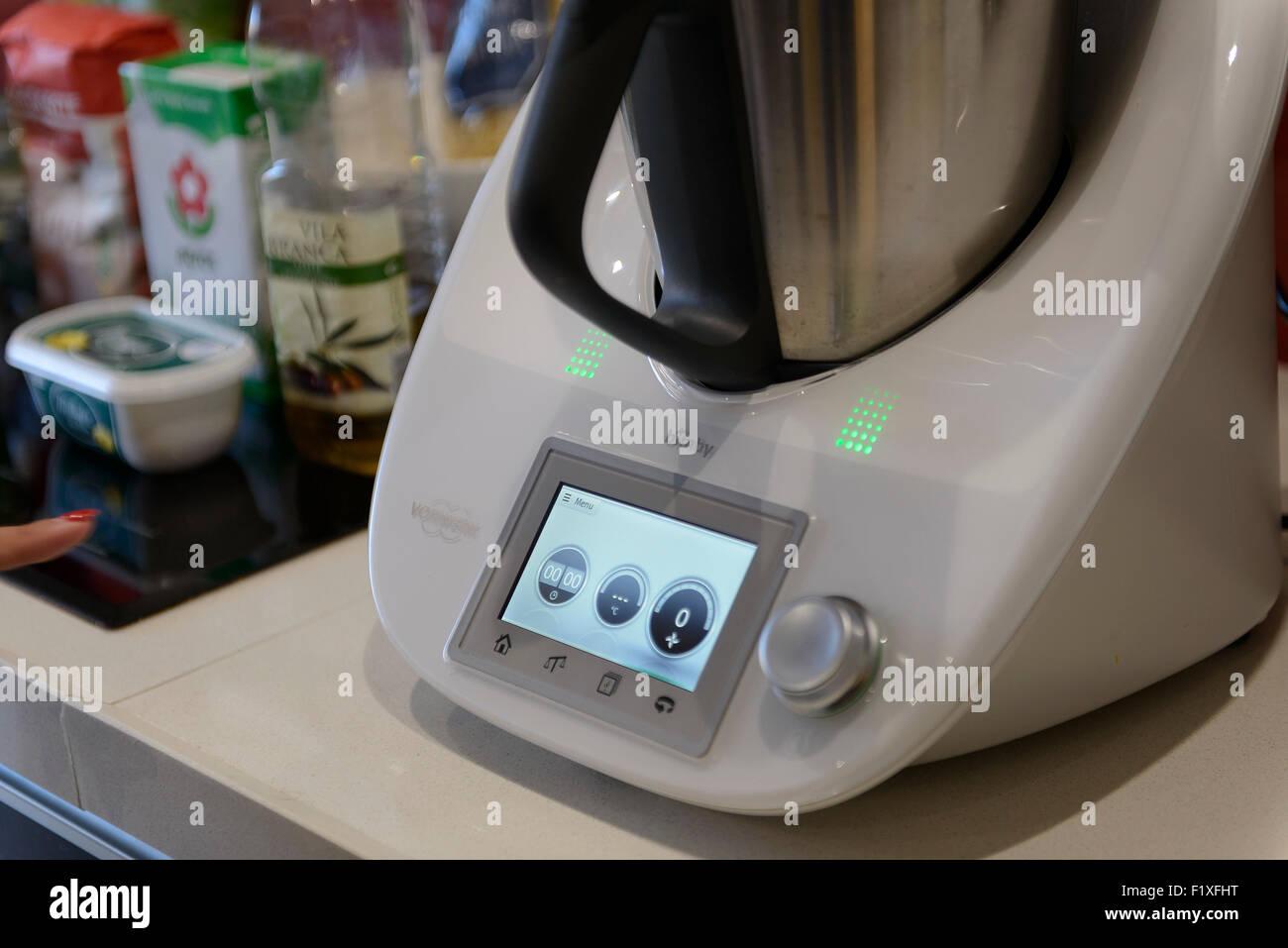 Uncategorized Thermomix Kitchen Appliance thermomix kitchen device food processor appliance stock vorwerk tm5 photo