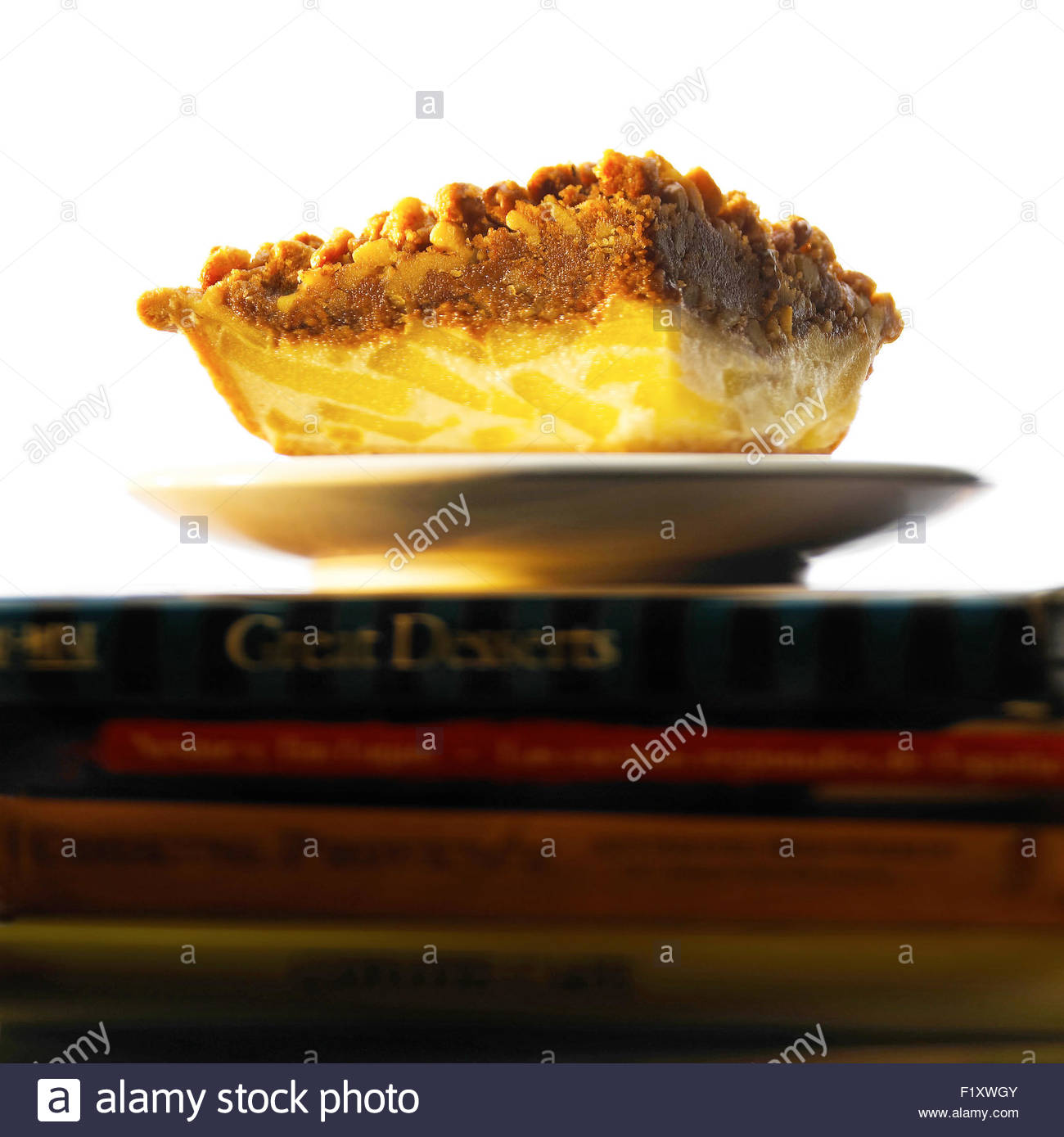 A slice of American apple pie Stock Photo, Royalty Free ...