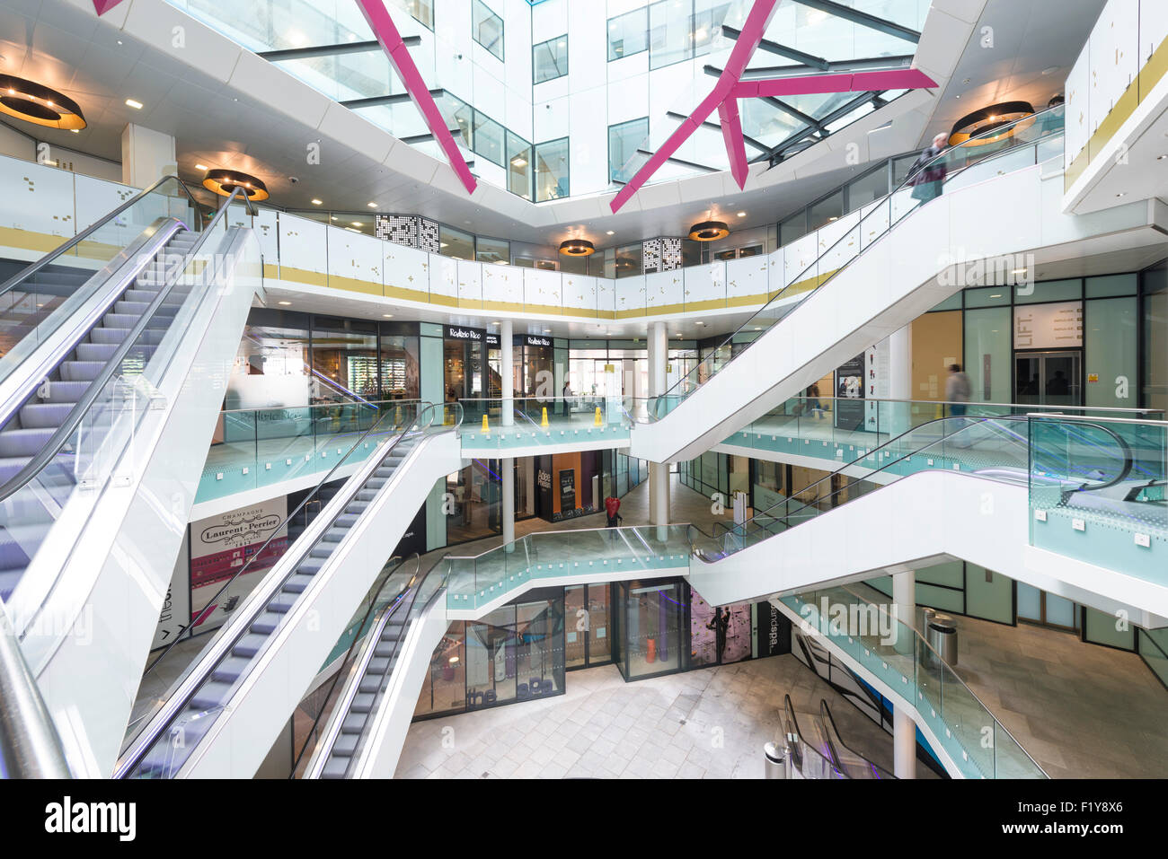 The Cube interiors, Birmingham Stock Photo, Royalty Free Image ...