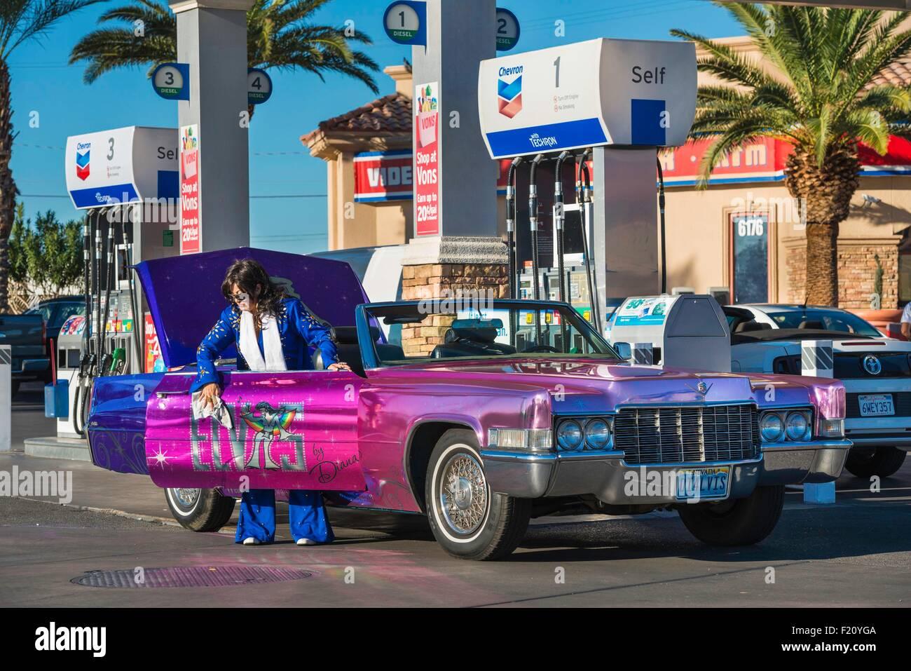 Cadillac Las Vegas >> United States Nevada Las Vegas Gas Station An Elvis Presley
