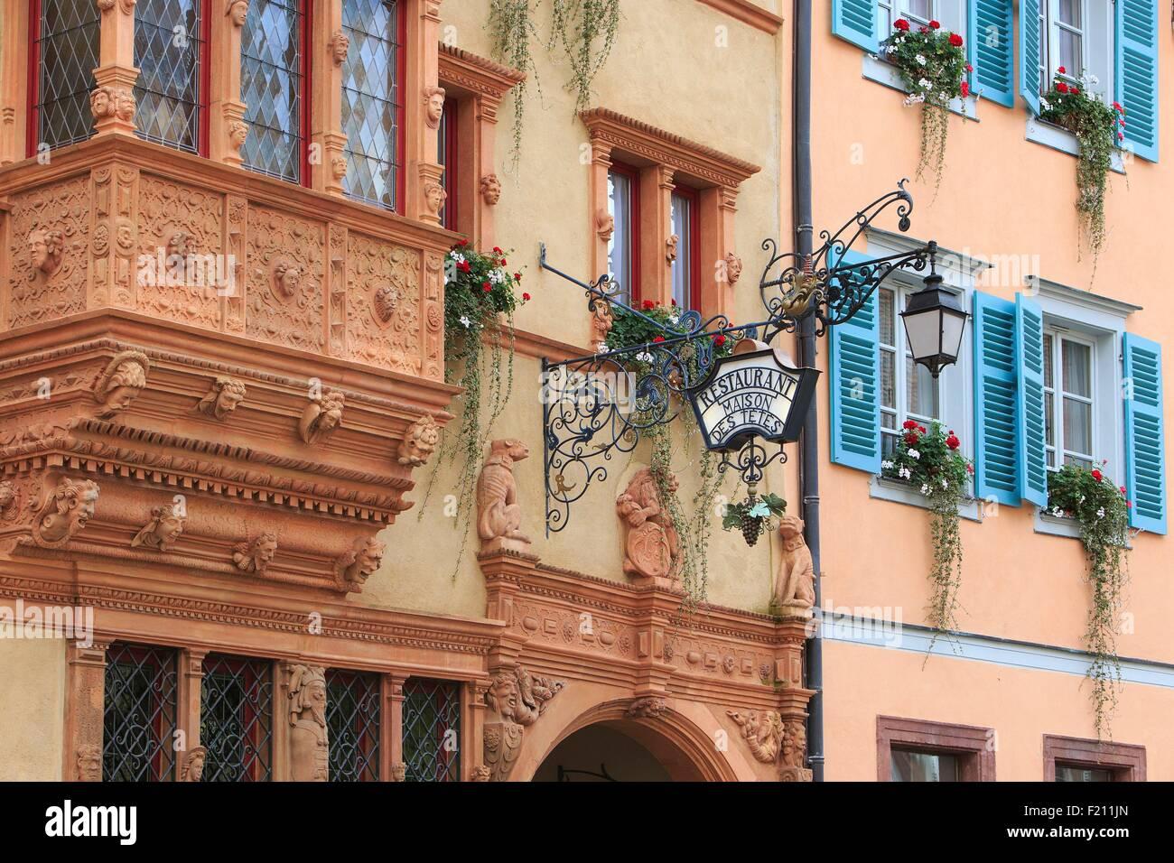 France haut rhin route des vins d 39 alsace colmar facade for Extension maison haut rhin